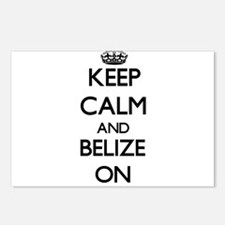 Keep calm and Belize ON Postcards (Package of 8)