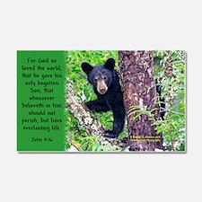 """Baby Black Bear - John 3:16 """"For God So Love The W"""