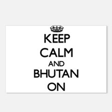 Keep calm and Bhutan ON Postcards (Package of 8)