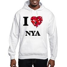 I Love Nya Hoodie Sweatshirt
