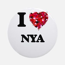 I Love Nya Ornament (Round)