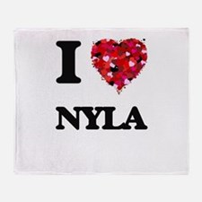 I Love Nyla Throw Blanket