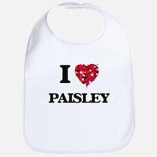 I Love Paisley Bib