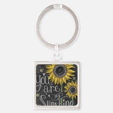 You are my sunshine Square Keychain