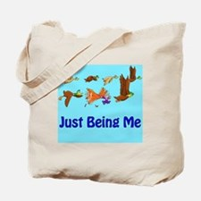 Duck: Just Being Me (Large Illustration) Tote Bag