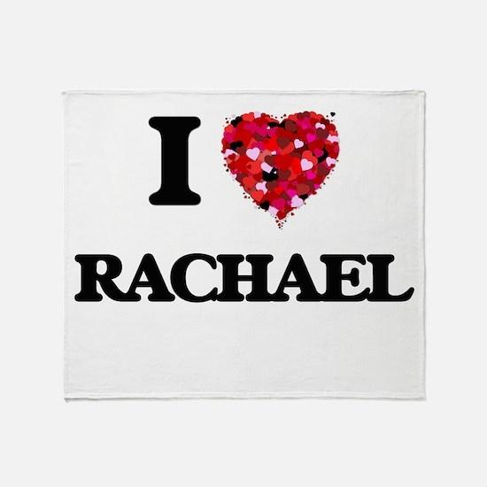 I Love Rachael Throw Blanket