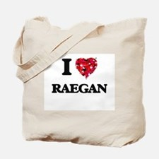 I Love Raegan Tote Bag