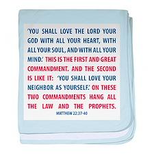 The Greatest Commandment baby blanket