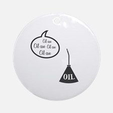 Wizard Of Oz Tin Man Oil Can Round Ornament