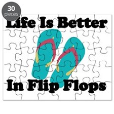 LIFE IS BETTER IN FLIP FLORS Puzzle