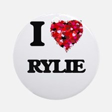 I Love Rylie Ornament (Round)