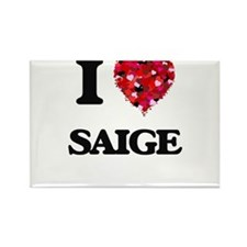 I Love Saige Magnets