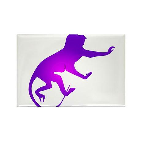 Tie Die Purple Monkey Rectangle Magnet