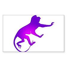 Tie Die Purple Monkey Rectangle Decal