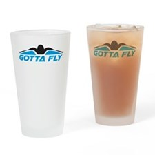 Swimming Gotta Fly Drinking Glass