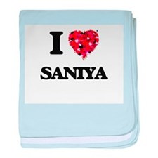 I Love Saniya baby blanket