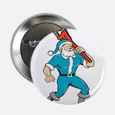 Santa Claus Plumber Monkey Wrench Isolated Cartoon