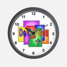 De Colores Stained Glass Wall Clock