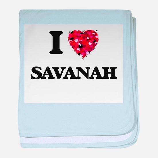 I Love Savanah baby blanket