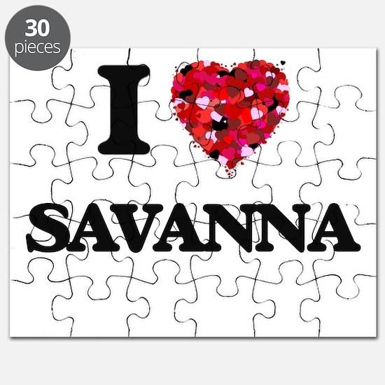 I Love Savanna Puzzle