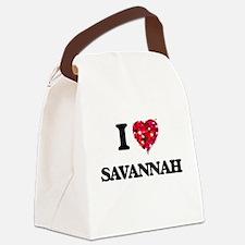 I Love Savannah Canvas Lunch Bag