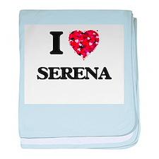 I Love Serena baby blanket