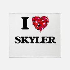 I Love Skyler Throw Blanket