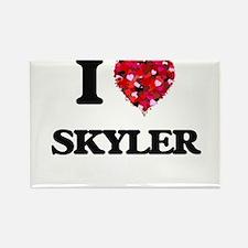 I Love Skyler Magnets