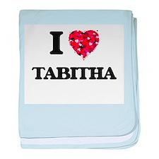 I Love Tabitha baby blanket