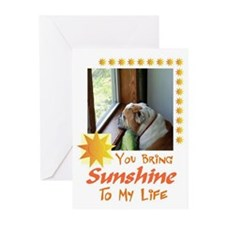 Bulldog Greeting Cards (Pack of 6)