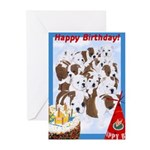 Bulldog Birthday Greeting Cards (Pk of 10)