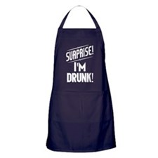 Surprise I'm DRUNK Apron (dark)