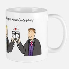 Gay male anniversary celebration. Mug