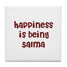 happiness is being Salma Tile Coaster