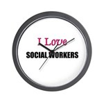 I Love SOCIAL WORKERS Wall Clock