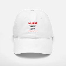 Nurse Humor Baseball Baseball Cap