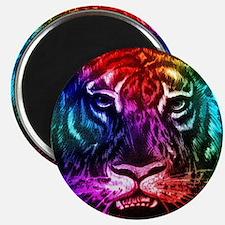Artsy Rainbow Tiger Magnets