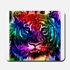 Artsy Rainbow Tiger Mousepad