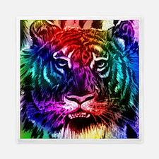 Artsy Rainbow Tiger Queen Duvet