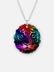 Artsy Rainbow Tiger Necklace
