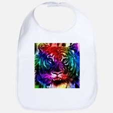 Artsy Rainbow Tiger Bib