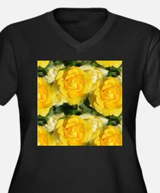 Yellow Roses Plus Size T-Shirt