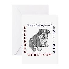 Bulldogsworld Greeting Cards (Pk of 10)