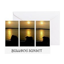 Bulldogs at Sunset Greeting Cards (Pack of 6)