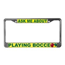 Bocce License Plate Frame