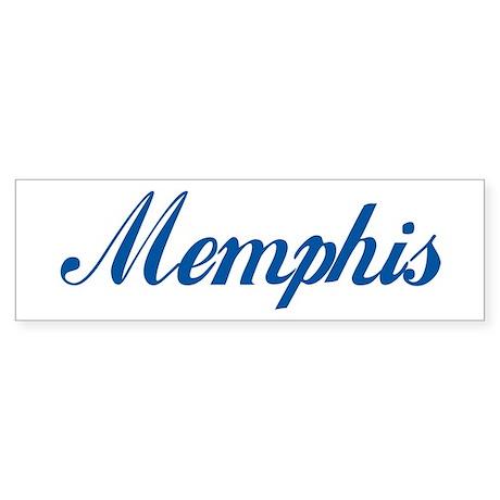 Memphis (cursive) Bumper Sticker