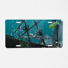 The Shipwreck Aluminum License Plate