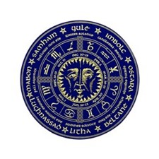 Wiccan's Wheel Of The Year Button
