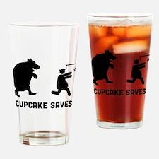 Cupcake Drinking Glass