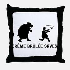 Creme Brulee Throw Pillow